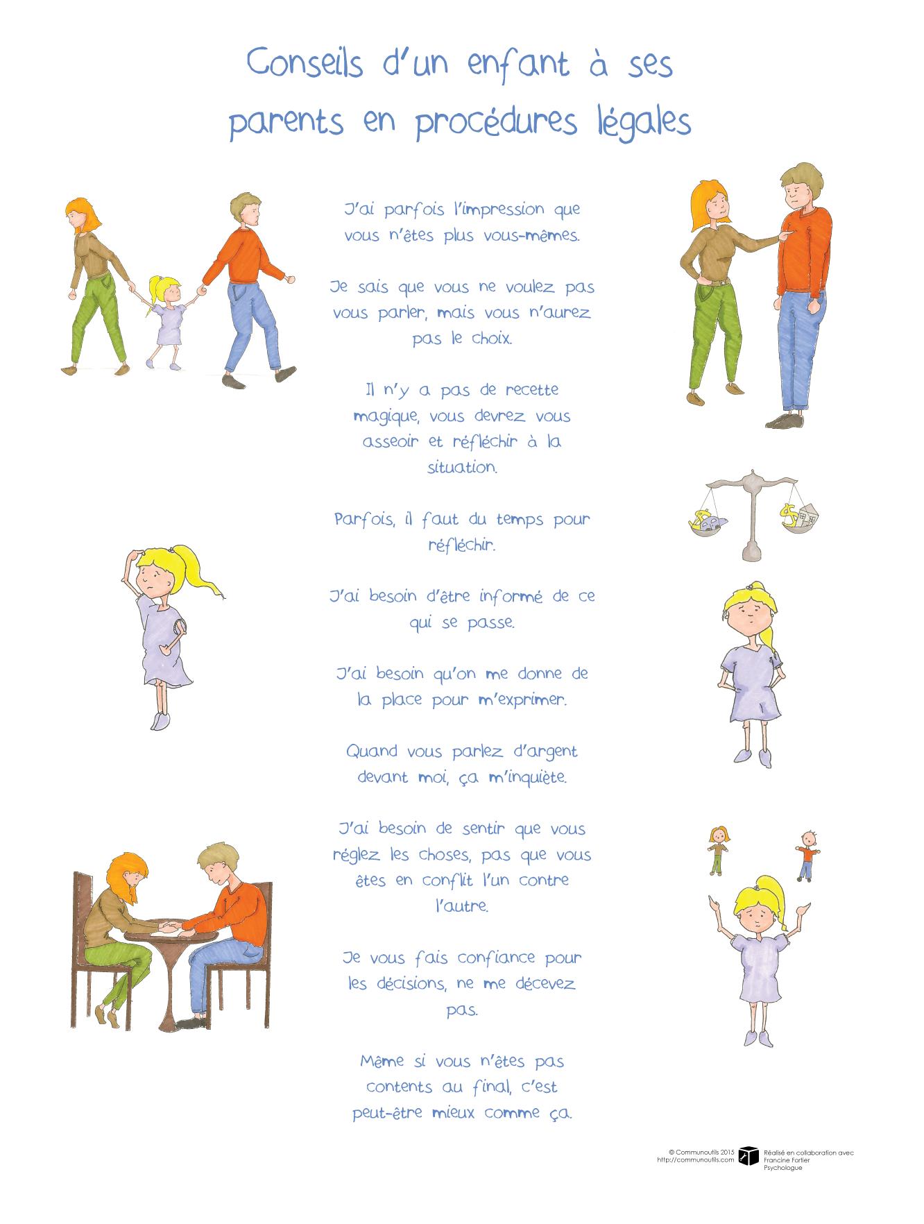 Affiche Conseils D Un Enfant 224 Ses Parents En Proc 233 Dures